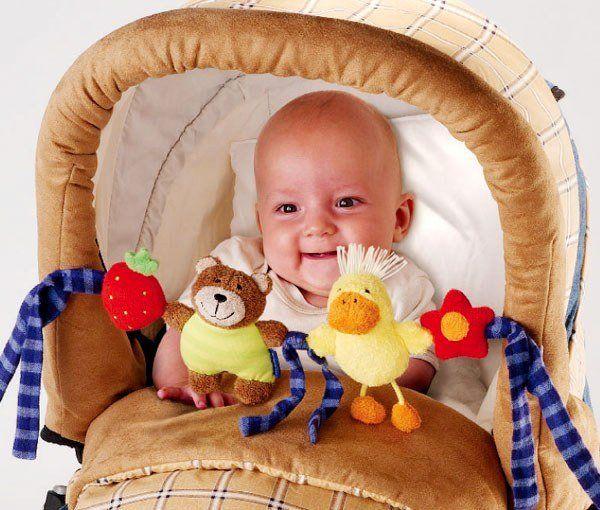 фото малышей до года в коляске