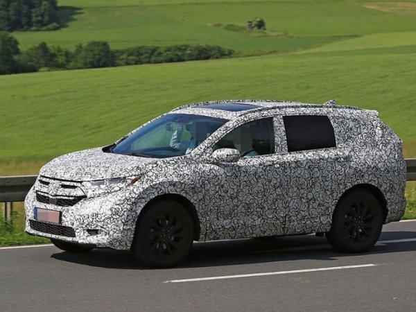 Новая Honda CR-V сфотографирована во время испытаний