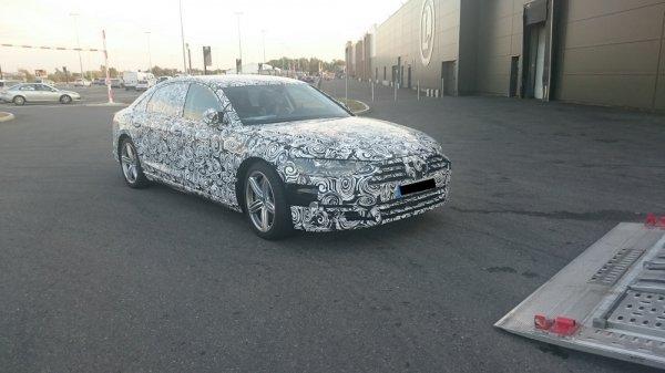 Новое поколение Audi A8 замечено на дорожных испытаниях