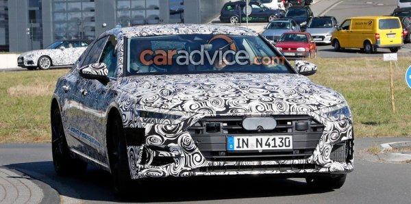Audi S7 2018 снова замечен на испытаниях