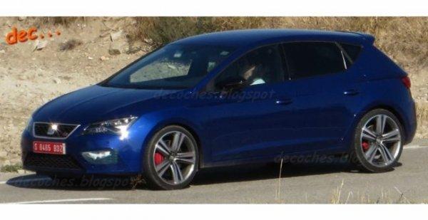 Обновленный SEAT Leon Cupra замечен почти без камуфляжа
