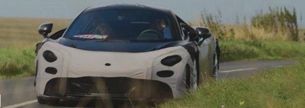 Новый McLaren сфотографировали во время тестирования