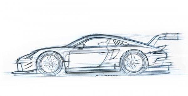 Опубликован официальный эскиз гоночного купе Porsche 911 RSR