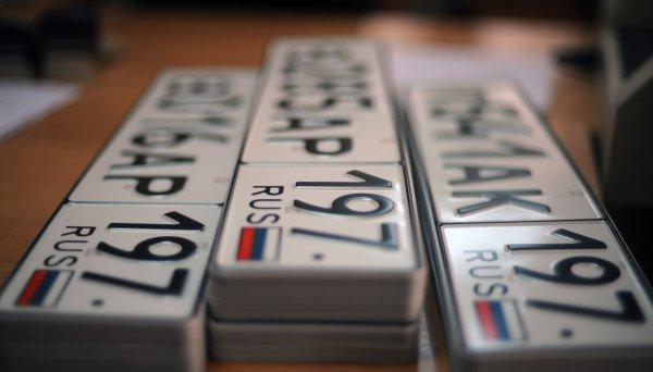 МВД России готовит новый стандарт номеров для автомобилей