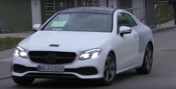 Предсерийный Mercedes-Benz E-Class Coupe 2018 замечен на испытаниях