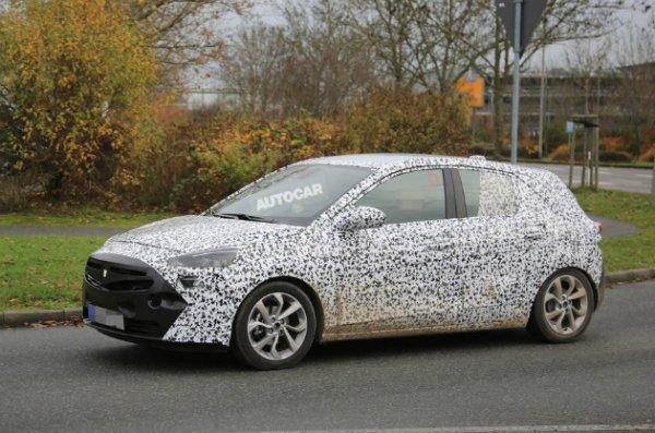 Фотошпионы сфотографировали шестое поколение Opel Corsa