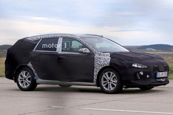Универсал Hyundai i30 впервые «засветился» на шпионских фото