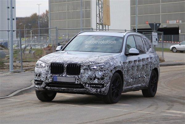 BMW X3 2017 показался на шпионских фото