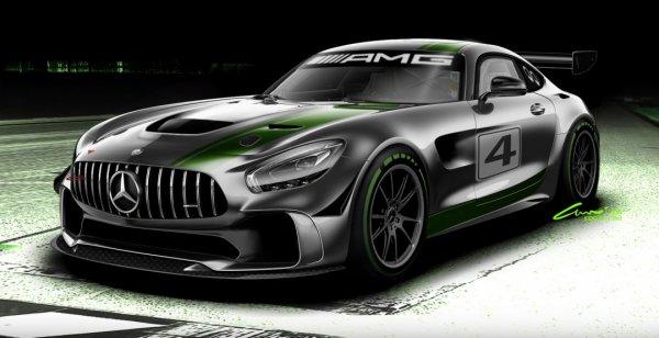 Представлен первый эскиз гоночного купе Mercedes-AMG GT4