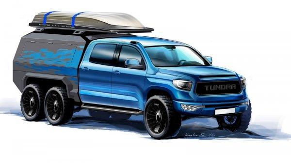 Московское тюнинг-ателье создаст 6-колёсный пикап Toyota Tundra