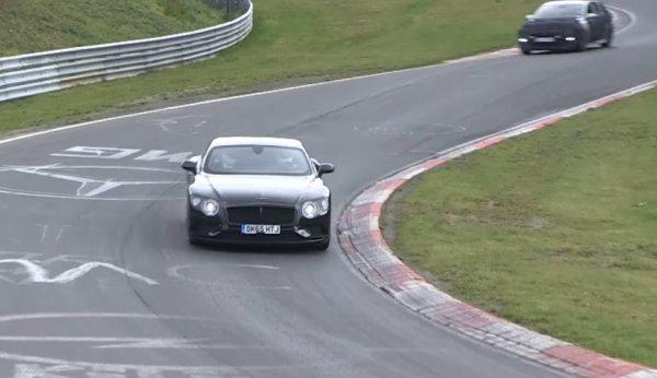 Прототипы Bentley Continental GT и GTC «засветились» на шпионском видео