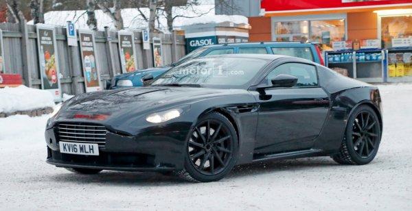 Aston Martin Vantage 2018 начал проходить зимние тесты