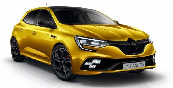 В сети появилась серия рендеров модели Renault Megane RS 2018
