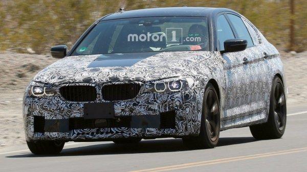 Новый BMW M5 впервые замечен на тестах
