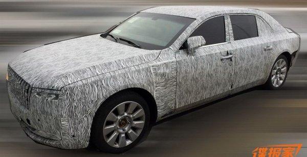 Китайцы тестируют роскошный седан с дизайном в стиле Rolls-Royce