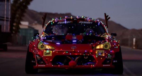 Toyota GT86 с мотором от Ferrari стала санями Санта-Клауса