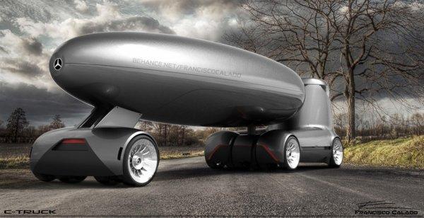 Mercedes-Benz показал концепт футуристического грузовика E-Truck Concept