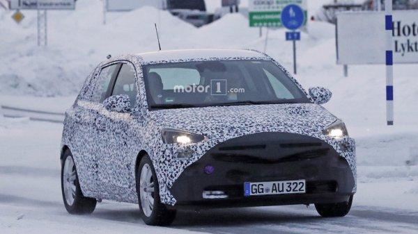 Шпионы запечатлели новый Opel Corsa F 2019 модельного года
