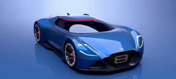 Представлен анонс концепта «спорткара будущего» Aston Martin Vision 8
