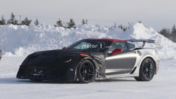 Прототип Chevrolet Corvette ZR1 «засветился» на шпионских снимках
