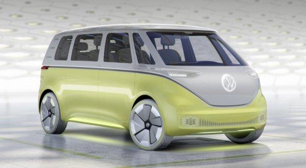 Volkswagen презентовал концепт электрического компактвэна I.D. Buzz