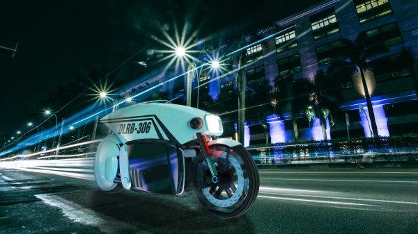 Представлен концепт беспилотного полицейского мотоцикла