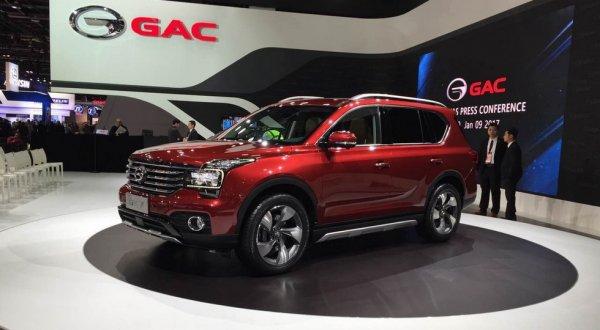 Компания GAC представила в Детройте три новых SUV-автомобиля