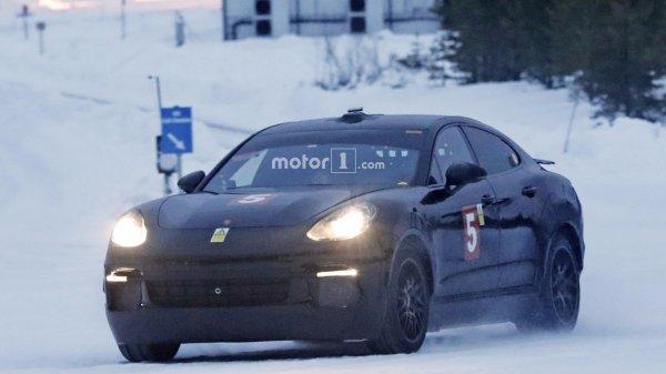 Porsche Panamera вывели на тесты под видом Mission E