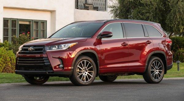 Toyota Highlander заслужил высшую оценку по безопасности