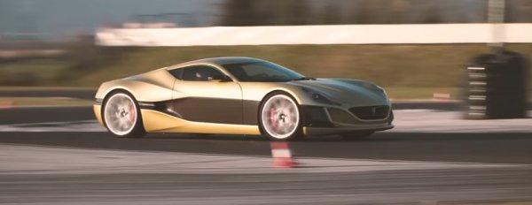 Rimac Concept One встретился с Bugatti Veyron на треке