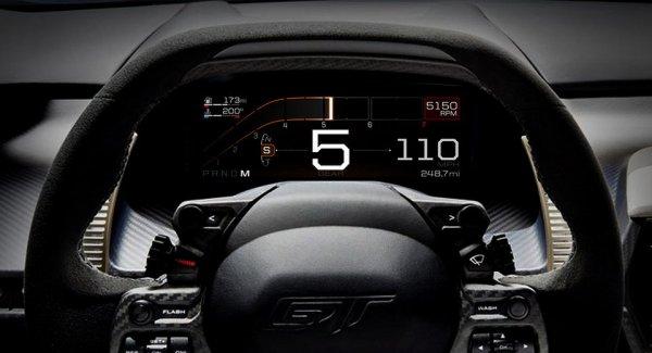 Ford оснастил все новые модели GT цифровой приборной панелью