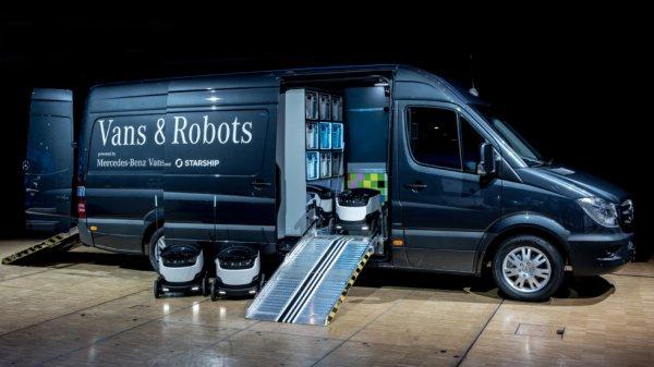 Mercedes-Benz Vans будет использовать «автоботы» для доставки грузов