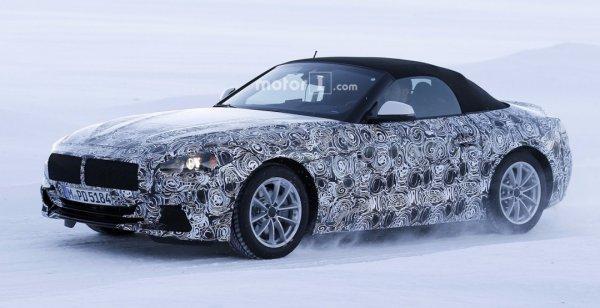 Родстер BMW Z5 показался на тестах в камуфляже