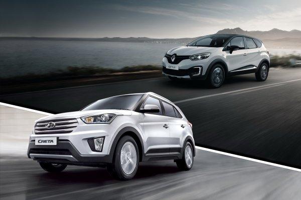 Какой будет ваш выбор: Renault Kaptur или Hyundai Creta?