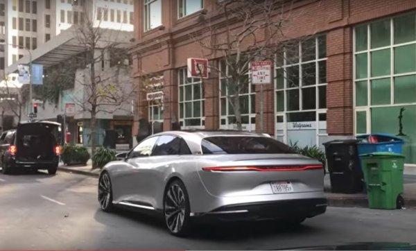 Электромобиль Lucid Air был замечен на тестах в Сан-Франциско