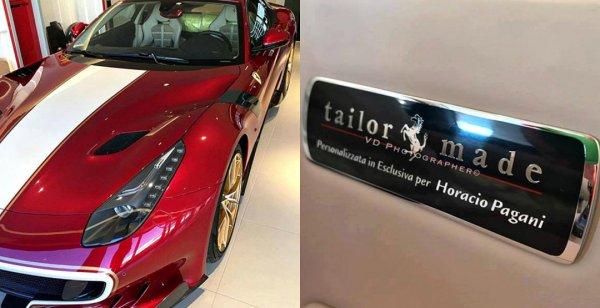 Создатель бренда Pagani получил уникальное купе Ferrari F12berlinetta