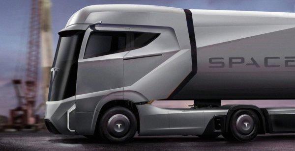 Показаны первые снимки рендера грузовика Tesla