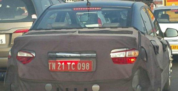 В сети появились шпионские снимки Hyundai Xcent