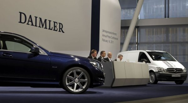 Daimler AG показал падение продаж за январь 2017 года