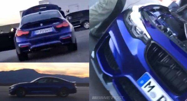 Появились первые снимки купе BMW M4 CS без камуфляжа