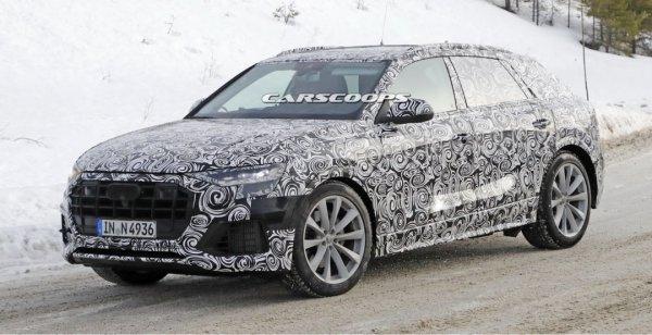 Опубликованы шпионские фото флагманского кроссовера Audi Q8