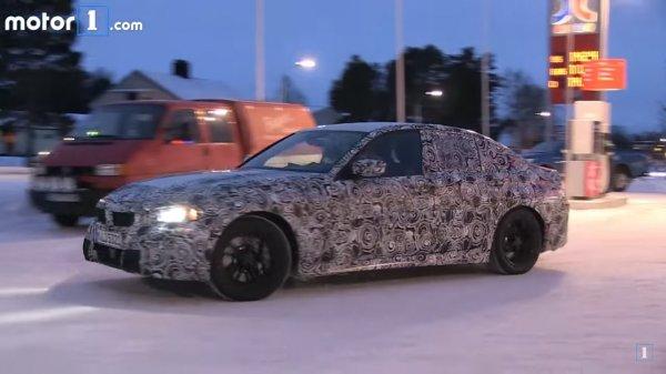 Опубликованы первое шпионское видео испытаний нового BMW 3-Series
