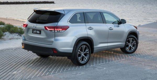 Внедорожник Toyota Kluger вышел на рынок Австралии
