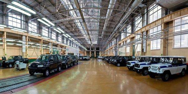 Производство автомобилей УАЗ сократилось на 8% в 2016 году