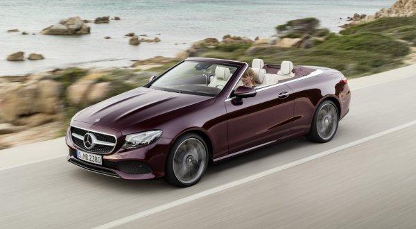 Компания Mercedes-Benz рассекретила кабриолет E-Class