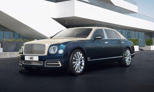 Bentley Mulsanne получил золотую и серебряную отделку