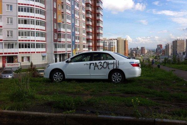 В Госдуме рассматривают вопрос увеличения штрафа за парковку на газоне