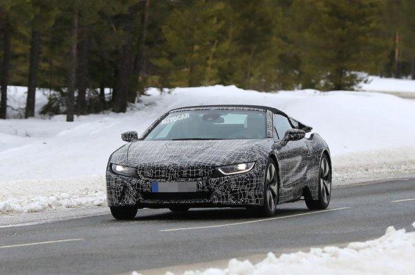Опубликованы первые шпионские снимки родстера BMW i8 Roadster
