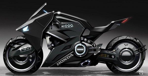 """Honda выпустил футуристический мотоцикл для фильма """"Призрак в доспехах"""""""