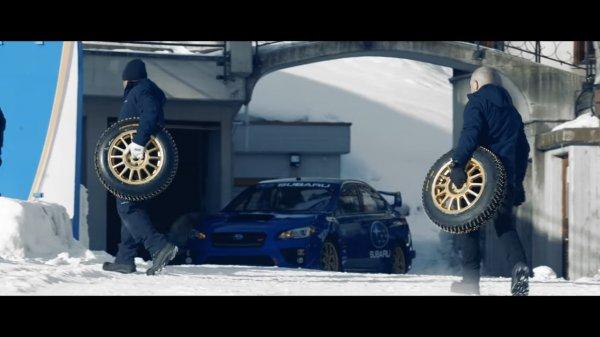 Subaru WRX STI проехался по самой старой бобслейной трассе в мире